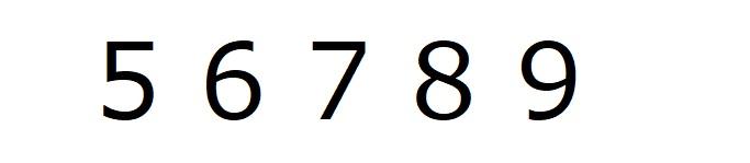 数字「56789」