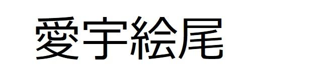 漢字「愛宇絵尾」